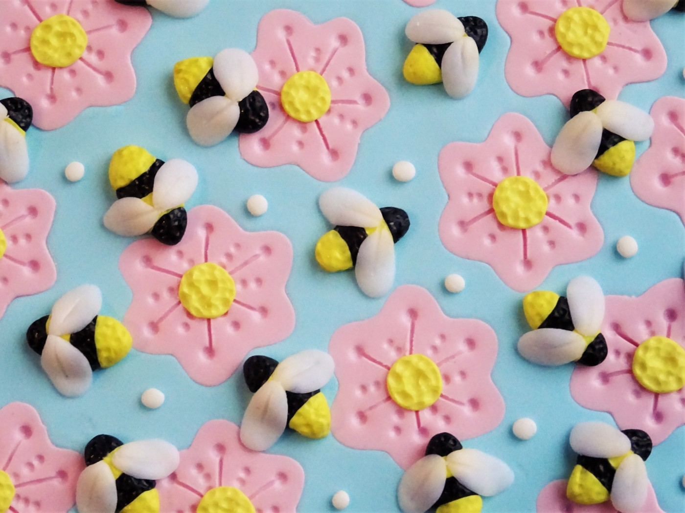 Bee and flower polymer clay slab tutorial