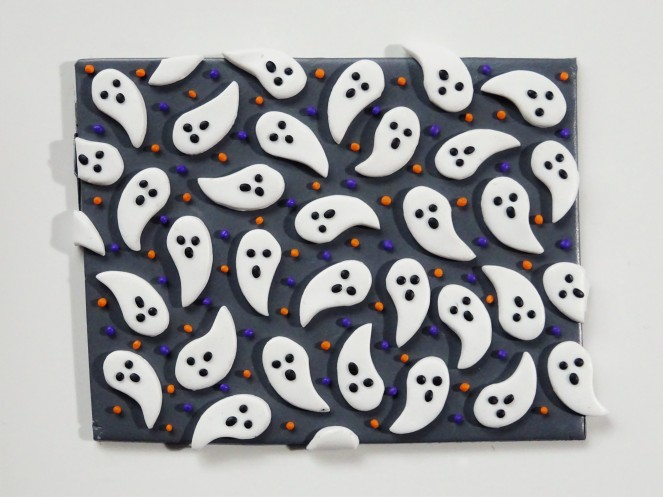 Halloween ghost polymer clay slab tutorial