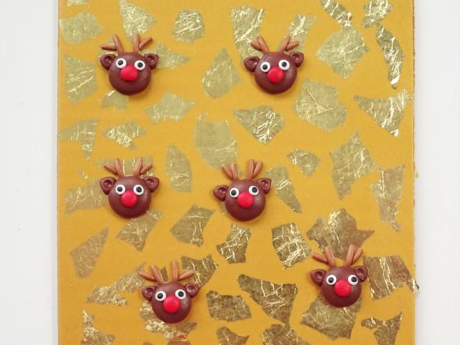 Christmas reindeer polymer clay slab tutorial