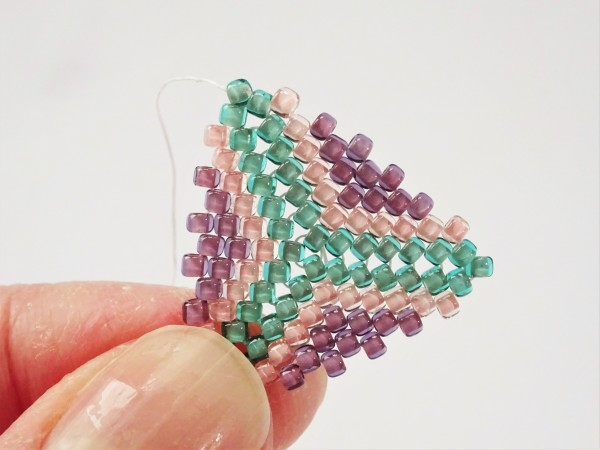 Peyote triangle bead weaving earring tutorial