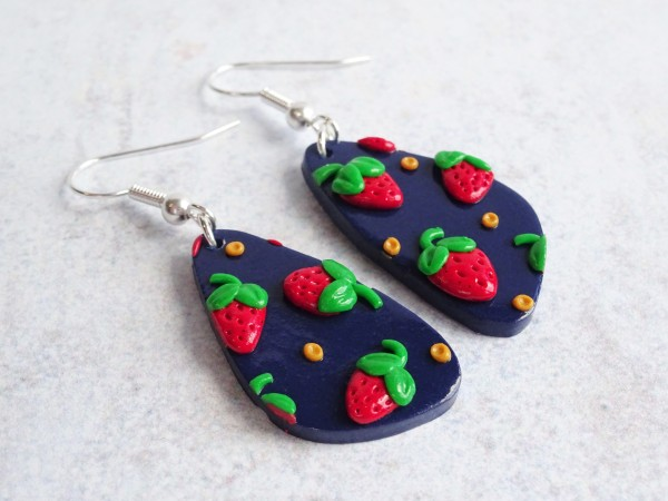 Strawberry polymer clay slab tutorial